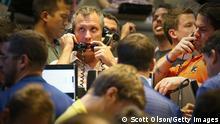 Chicago Börse USA Broker Trader USA Reaktion auf Kompromiss im Haushaltsstreit