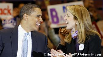 Caroline Kennedy und Barack Obama (Foto: Emmanuel Dunand/AFP/Getty Images)
