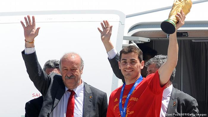 Vicente del Bosque und Iker Casillas (WM 2010) (Dani Pozo/AFP/Getty Images)