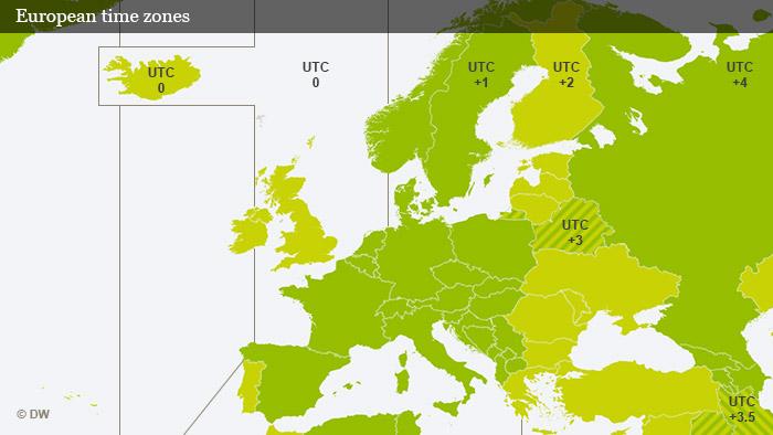 Vremenske zone u Europi