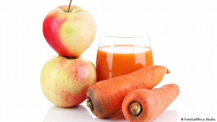 Möhren und Äpfeln
