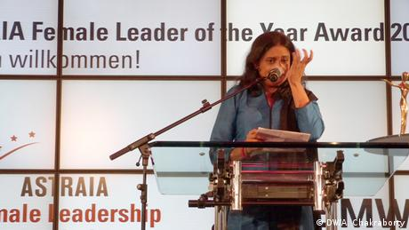 Nazma Akter bei der Preisverleihung Female Leader Of The Year 2013 in Berlin