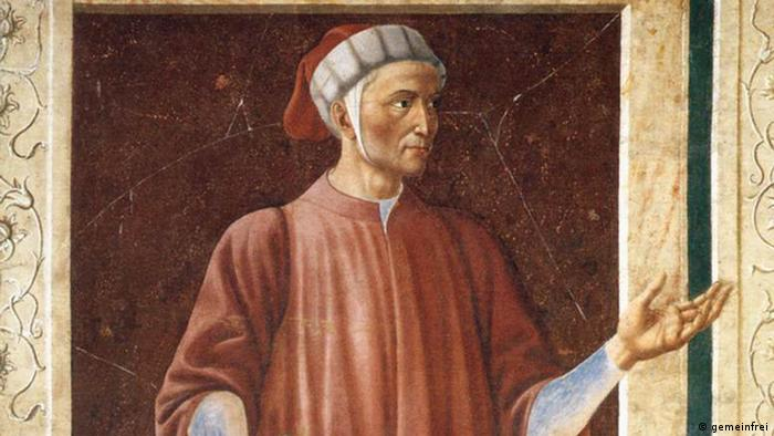 Данте Алигьери, фрезка,1450 год