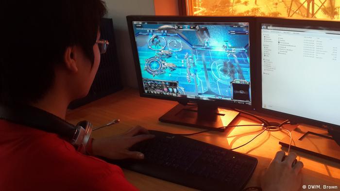 A Vietnamese gamer plays 2112