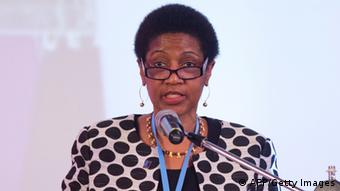 The Executive Director of the United Nations Entity for Gender Equality and the Empowerment of Women (UN Women), Phumzile Mlambo-Ngcuka, speaks during the XII Regional Conference of Women in Latin America and the Caribbean, organized by the Economic Commission for Latin America and the Caribbean (ECLAC) in Santo Domingo, on October 15, 2013. (Photo: AFP)