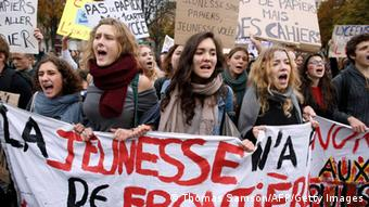 High school students demonstrates at the Nation square in Paris, on October 18, 2013, in protest against the deportation of foreign pupils following the high-profile eviction of a 15-year-old Roma girl. Leonarda Dibrani (Photo:THOMAS SAMSON/AFP/Getty Images)