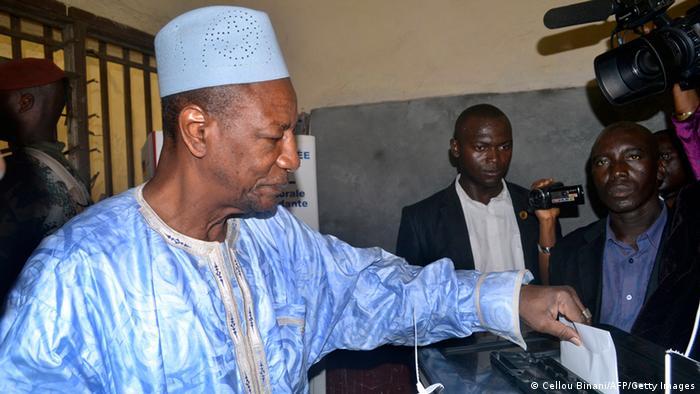 Le président Alpha Condé lors des législatives en septembre 2013 (Image/Archives)