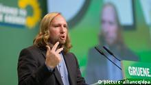 Anton Hofreiter beim Bundesparteitag der Grünen am 19. Oktober 2013