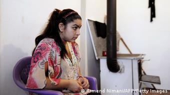 Leonarda Dibrani, eine Jugendliche, die aus Frankreich in den Kosovo abgeschoben wurde (Foto: AFP)