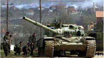 A tank in the Kosovo War