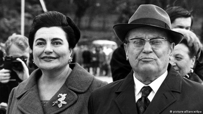 Tito und Jovanka Broz Belgrad Archiv 1973