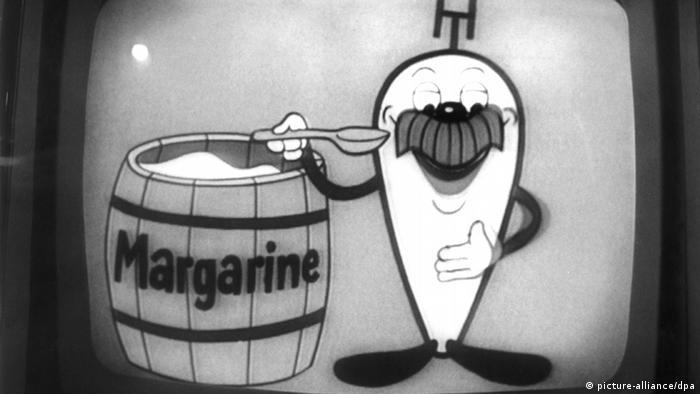 Fernsehwerbung für Margarine im Jahr 1965. (Foto: dpa)