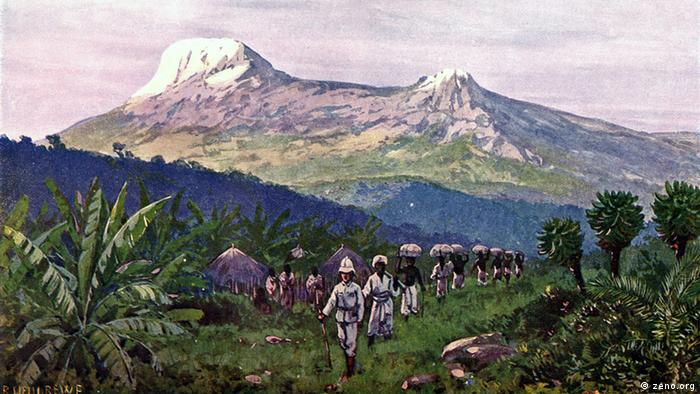 Kilimandscharo unter deutscher Kolonialherrschaft, Bild von 1911 (Foto: zeno.org)