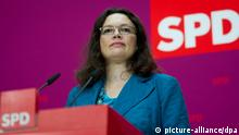 Andrea Nahles 21.10.2013 Willy-Brandt-Haus