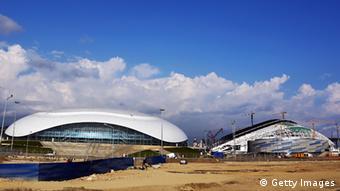 Одга из спортивных арен в Сочи, где пройдут соревнования на зимней Олимпиаде