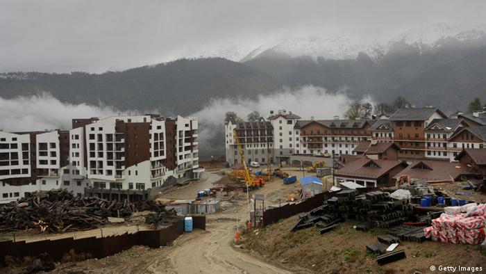 A construction site at the Olympic village in Sochi (Foto: Mikhail Mordasov/AFP/Getty Images)