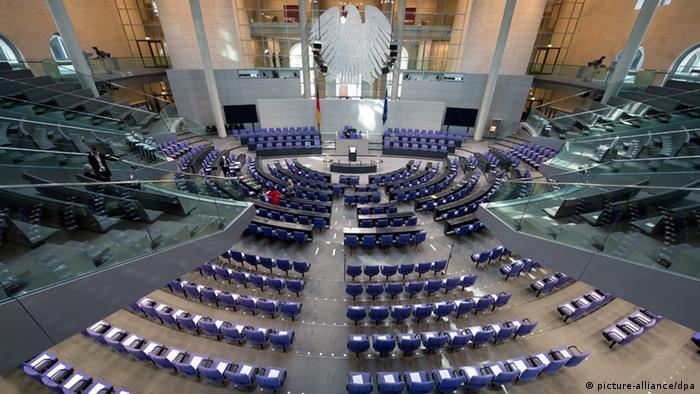 Bundestag konstituierende Sitzung Plenarsaal 22.10.2013 (picture-alliance/dpa)