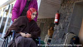 Aminatou Haidar nach Beendigung ihres Hungerstreiks auf Lanzerote Foto: ANDRES GUTIERREZ/AFP/Getty Images