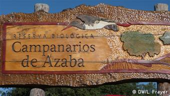 Entrance to the Campanarios de Azaba Biological Reserve in western Spain, where ancient Iberian horses (the Retuerta breed) are being reintroduced into the wild for the first time in some 2,000 years. (Photo: Lauren Frayer / DW)