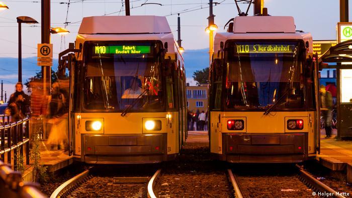 Трамвайная остановка в Берлине