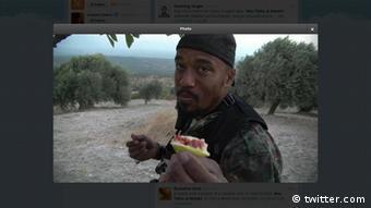 Twitter Verbreitung Bild von Denis Cuspert alias Abu Talha al-Almani