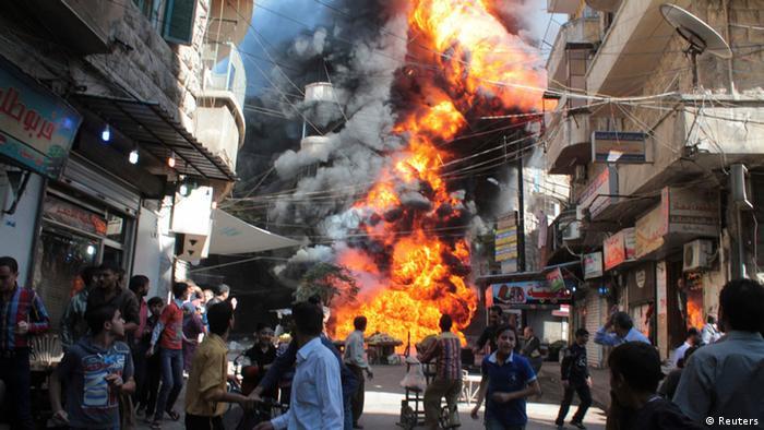 Explosion in Aleppo (Foto: REUTERS/Haleem Al-Halabi)