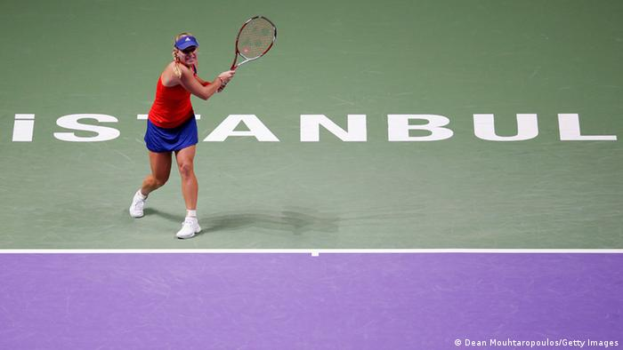 Angelique Kerber on Aktion. (Foto: Dean Mouhtaropoulos/Getty Images)