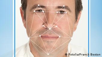 Mann Gesichtserkennung Software