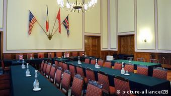 В этом зале был подписан акт о безоговорочной капитуляции Германии