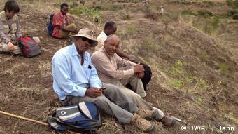 Experten vom Middle Awash Research-Team bei Ausgrabungen in Afar Äthiopien