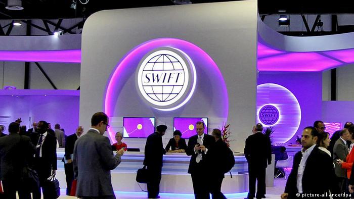 SWIFT Stand bei SIBOS 2013 in Dubai