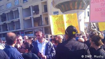 Protest von Journalisten in Mazedonien