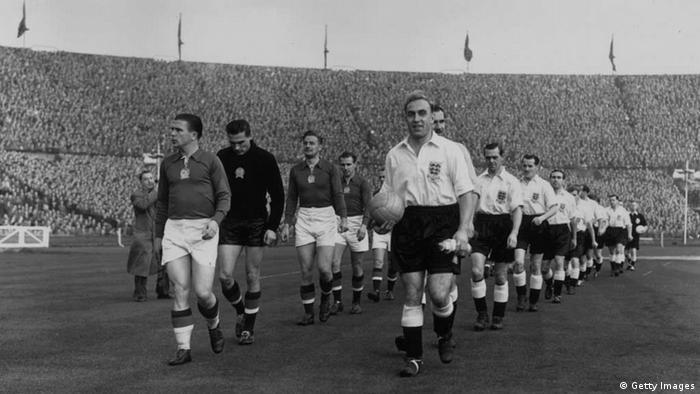Fußball Länderspiel England - Ungarn 1953