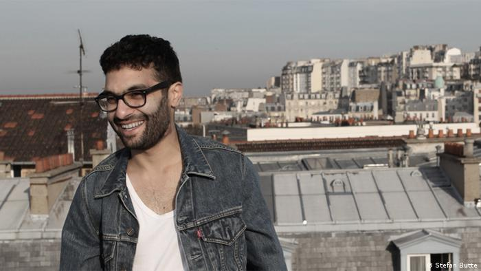 The performer Mihalj Miki Kekenj, pictured on a rooftop Copyright: Stefan Butte