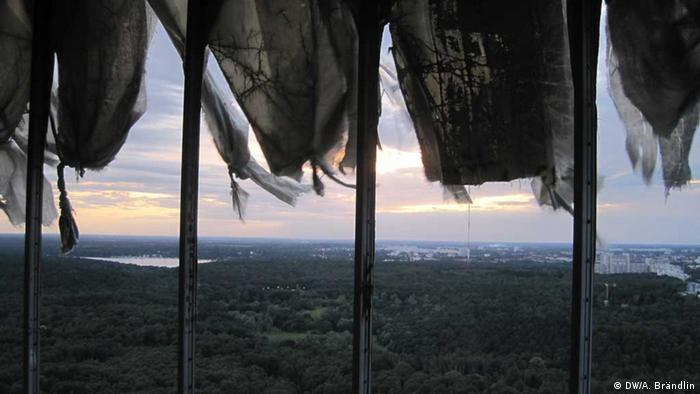 Sunset view from one of the radar dome down on the Grunewald Foto: Anne-Sophie Brändlin, am 27.08.2012 in Berlin