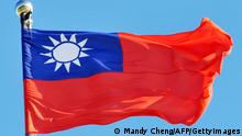 Taiwan's national flag flies in the wind on a flag pole in Taipei on July 28,2012. AFP PHOTO / Mandy CHENG (Photo credit should read Mandy Cheng/AFP/GettyImages)