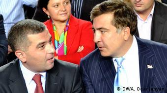 Кандидат від опозиції Давид Бакрадзе та Михайло Саакашвілі