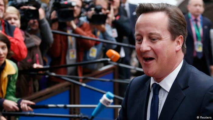 Britain's Prime Minister David Cameron arrives at an European Union leaders summit in Brussels October 24, 2013. (Photo: Francois Lenoir)