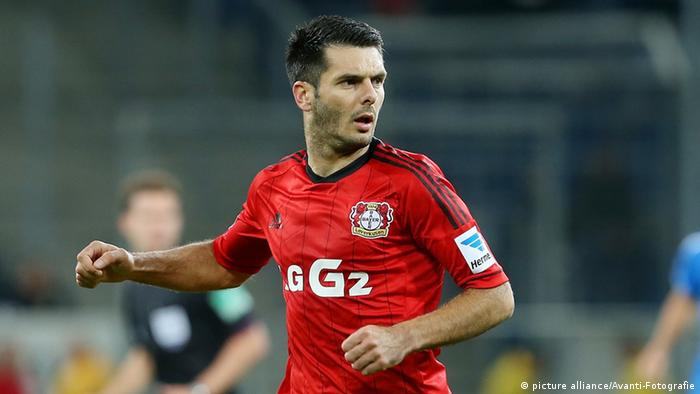 Emir Spahic on the pitch for Bayer Leverkusen