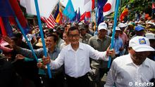 Sam Rainsy Demo Opposition Kambodscha 25.10.2013