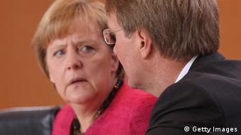 Merkel and Pofalla Photo by Sean Gallup/Getty Images