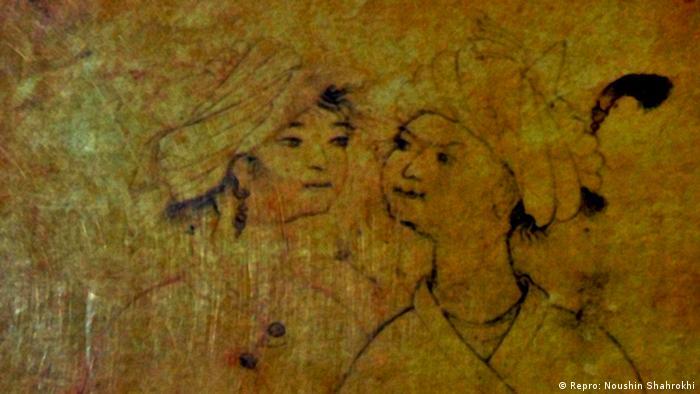 ویس و رامین؛ تصویر برگرفته از جلد کتاب ویس و رامین، اثر فخرالدین اسعد گرگانی، چاپ صدای معاصر ۱۳۷۷