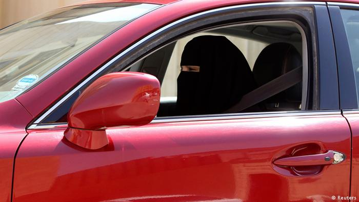 A women drives a car in Saudi Arabia (Reuters)