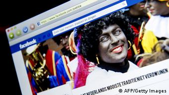 A computer screen displaying the Facebook page of pro Black Pete 'Pietitie'. Photo: Koen van Weel