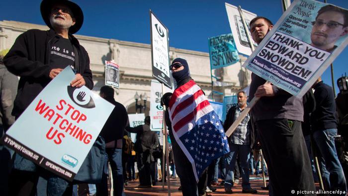 Stop watching us Protest USA Washington NSA