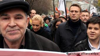 Alexej Navalny bei einer Demonstration in Moskau (Foto: dpa)