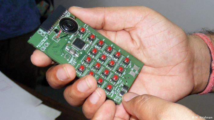 Prototypes of the Braille Phone (Photo: Murali Krishnan)
