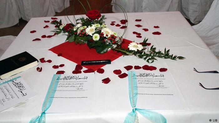 مراسم عقد زواج بالطريقة الاسلامية في ألمانيا