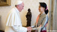 Politikerin Aung San Suu Kyi zu Besuch bei Papst Franziskus