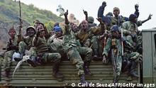 Kongo Soldaten gehen gegen Rebellen der Gruppe M23 vor